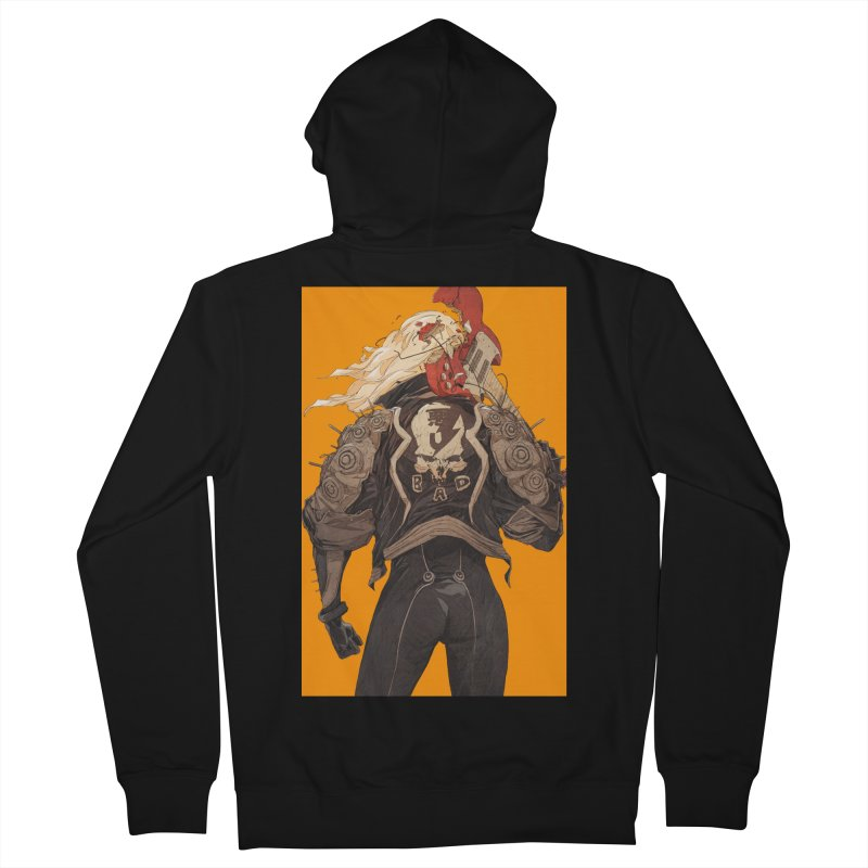 Dismantle Men's French Terry Zip-Up Hoody by Chun Lo's Artist Shop