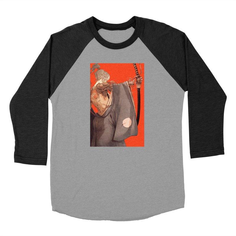 Mantle Women's Baseball Triblend Longsleeve T-Shirt by Chun Lo's Artist Shop