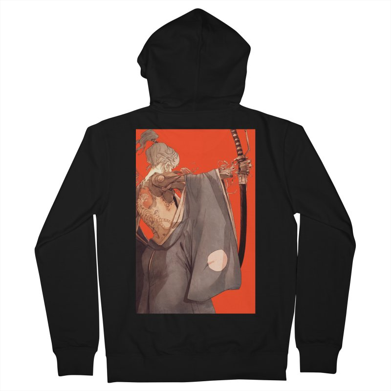 Mantle Women's French Terry Zip-Up Hoody by Chun Lo's Artist Shop