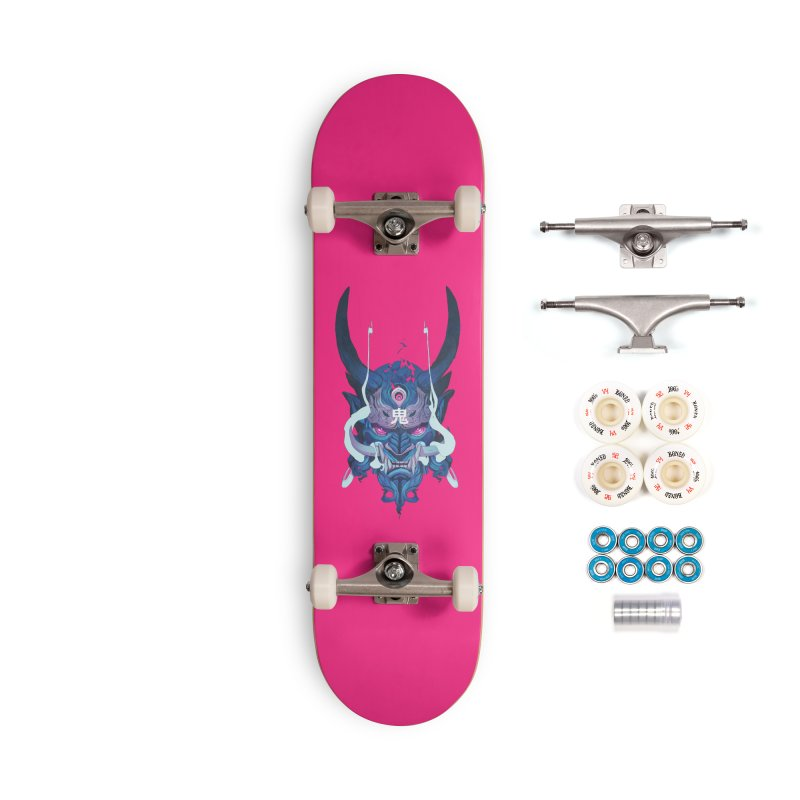 Oni Mask 01 Accessories Complete - Premium Skateboard by Chun Lo's Artist Shop