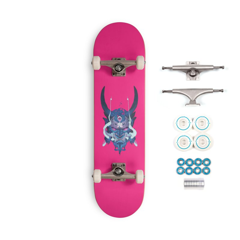 Oni Mask 01 Accessories Complete - Basic Skateboard by Chun Lo's Artist Shop