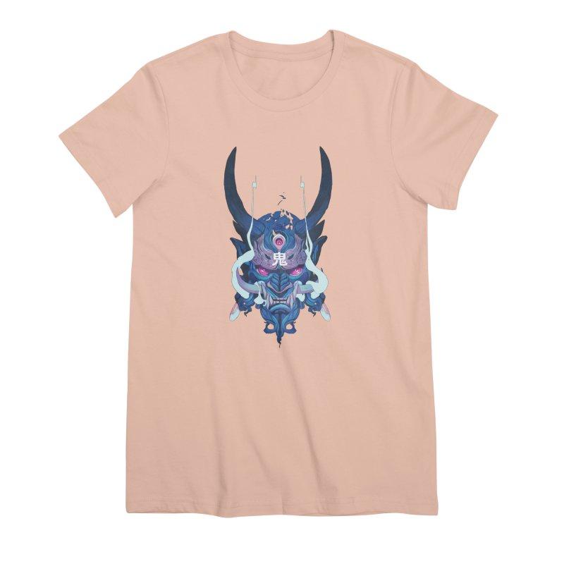 Oni Mask 01 Women's Premium T-Shirt by Chun Lo's Artist Shop