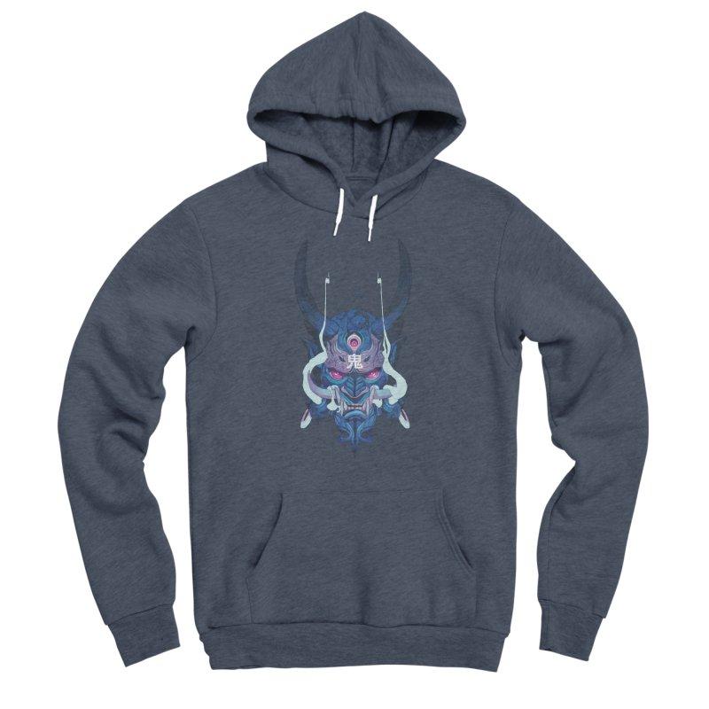 Oni Mask 01 Women's Sponge Fleece Pullover Hoody by Chun Lo's Artist Shop