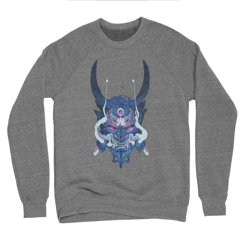 Oni Mask 01 Men's Sponge Fleece Sweatshirt by Chun Lo's Artist Shop