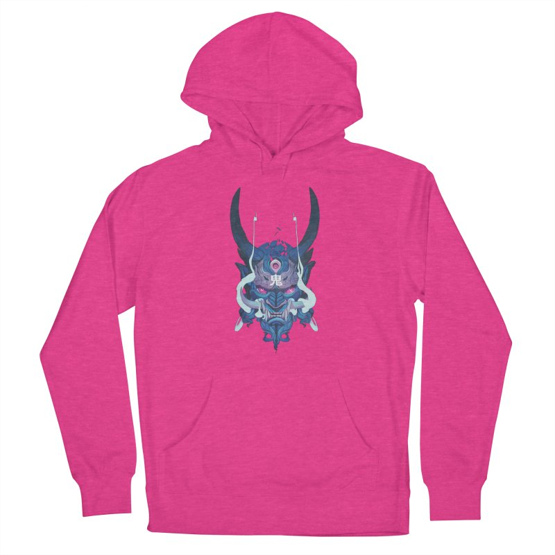 Oni Mask 01 Men's French Terry Pullover Hoody by Chun Lo's Artist Shop