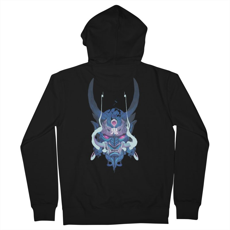 Oni Mask 01 Women's French Terry Zip-Up Hoody by Chun Lo's Artist Shop