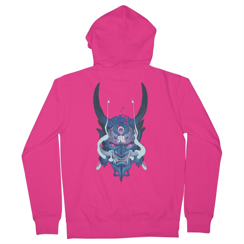 Oni Mask 01 Men's French Terry Zip-Up Hoody by Chun Lo's Artist Shop