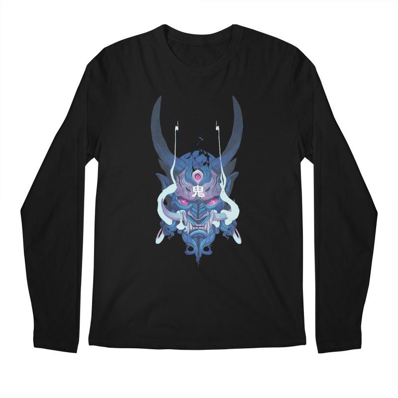 Oni Mask 01 Men's Regular Longsleeve T-Shirt by Chun Lo's Artist Shop
