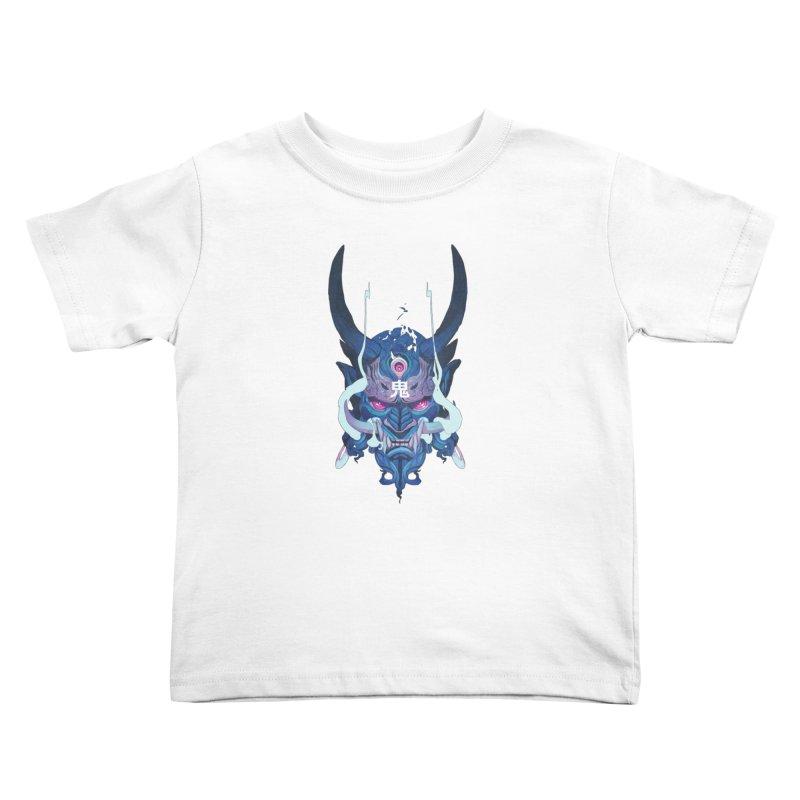 Oni Mask 01 Kids Toddler T-Shirt by Chun Lo's Artist Shop