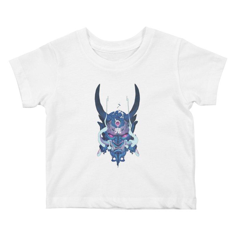 Oni Mask 01 Kids Baby T-Shirt by Chun Lo's Artist Shop