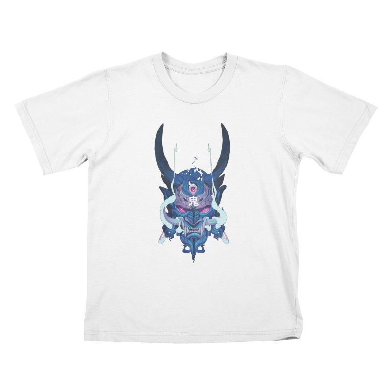 Oni Mask 01 Kids T-Shirt by Chun Lo's Artist Shop