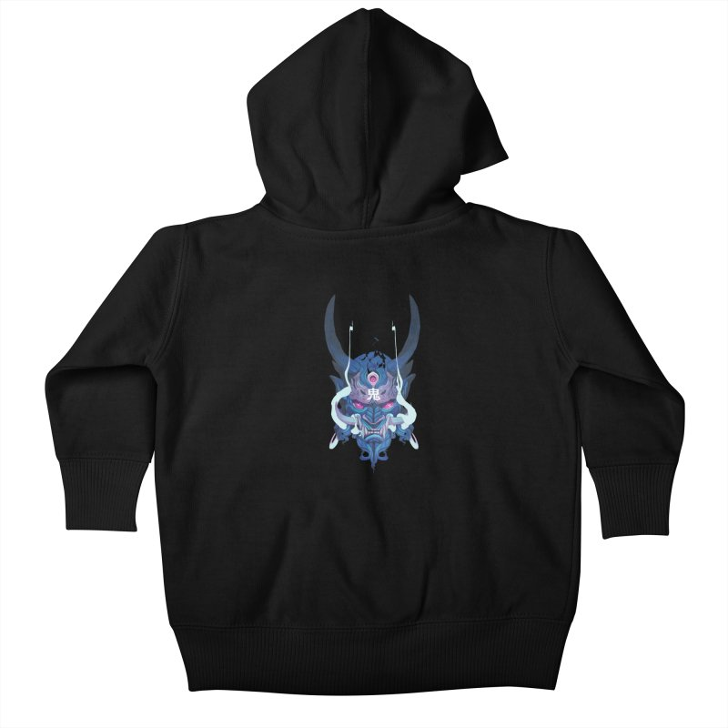 Oni Mask 01 Kids Baby Zip-Up Hoody by Chun Lo's Artist Shop