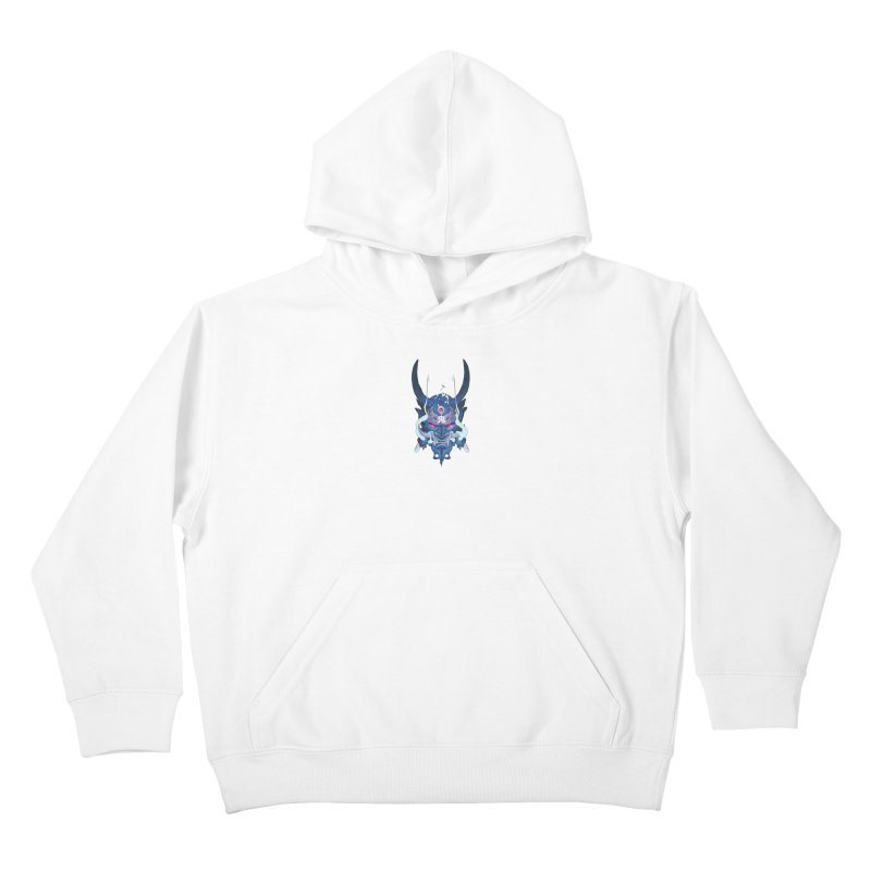 Oni Mask 01 Kids Pullover Hoody by Chun Lo's Artist Shop