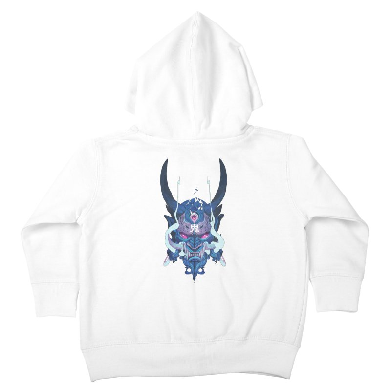 Oni Mask 01 Kids Toddler Zip-Up Hoody by Chun Lo's Artist Shop