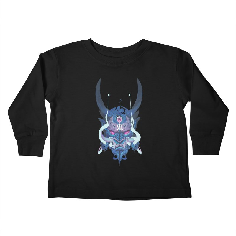 Oni Mask 01 Kids Toddler Longsleeve T-Shirt by Chun Lo's Artist Shop