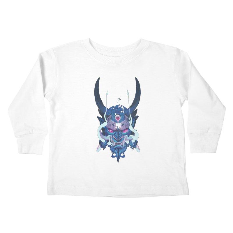 Oni Mask 01 Kids Toddler Longsleeve T-Shirt by Chun Lo's Artist Shop