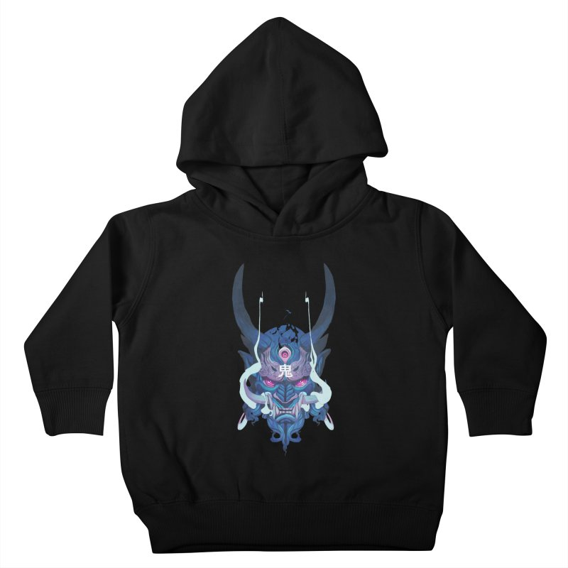 Oni Mask 01 Kids Toddler Pullover Hoody by Chun Lo's Artist Shop