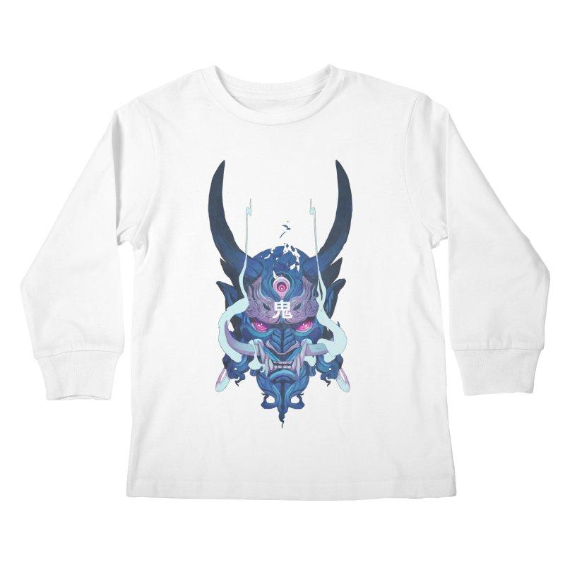 Oni Mask 01 Kids Longsleeve T-Shirt by Chun Lo's Artist Shop