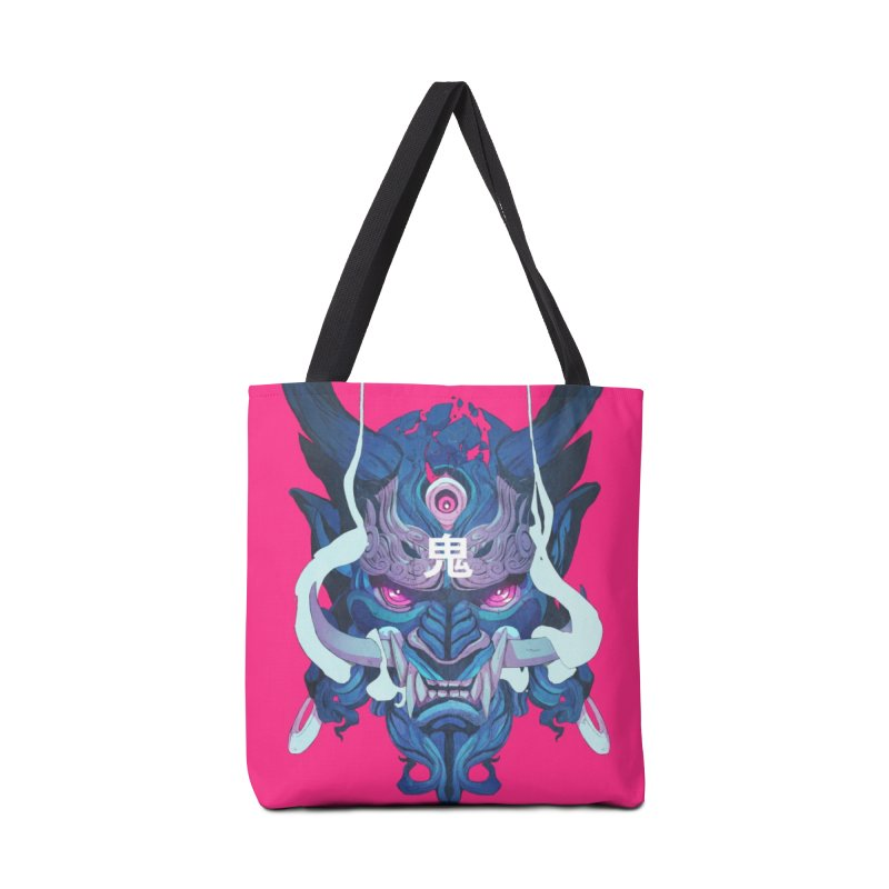 Oni Mask 01 Accessories Tote Bag Bag by Chun Lo's Artist Shop