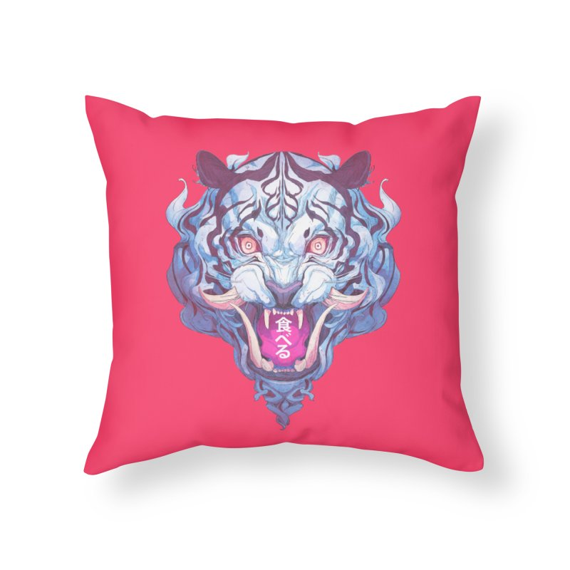The Tiger Home Throw Pillow by Chun Lo's Artist Shop