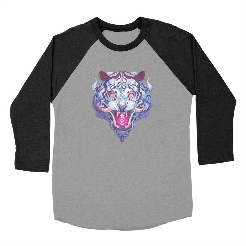 The Tiger Women's Baseball Triblend Longsleeve T-Shirt by Chun Lo's Artist Shop