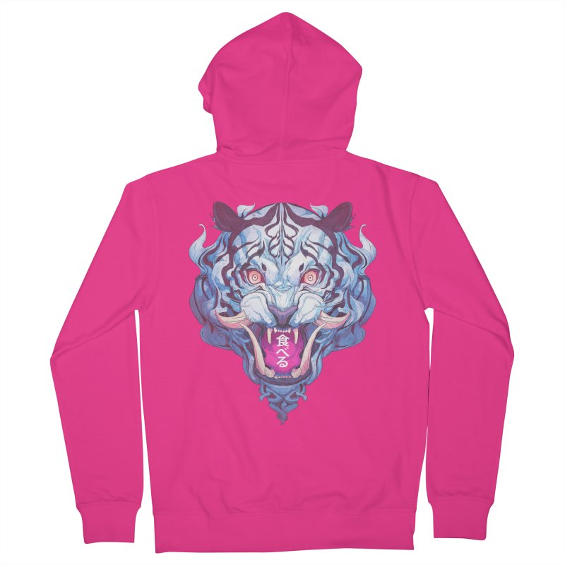 The Tiger Men's French Terry Zip-Up Hoody by Chun Lo's Artist Shop