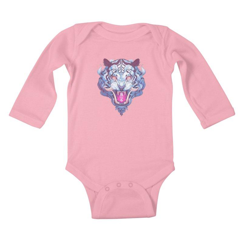 The Tiger Kids Baby Longsleeve Bodysuit by Chun Lo's Artist Shop