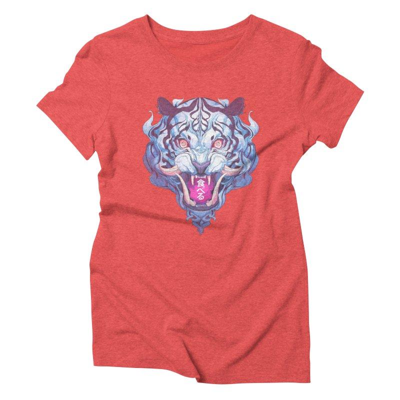 The Tiger Women's Triblend T-Shirt by Chun Lo's Artist Shop