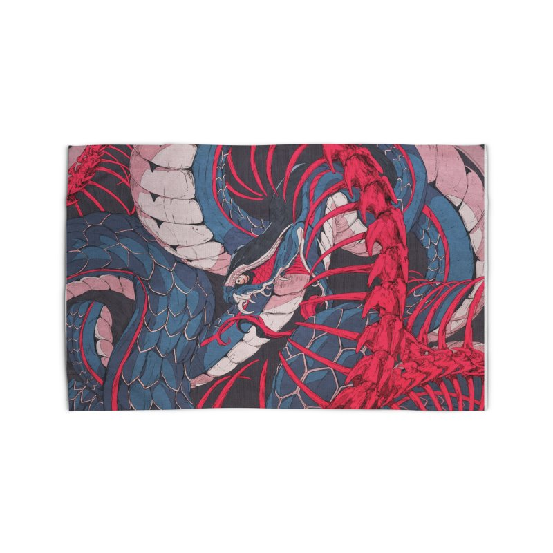 Ouroboros Home Rug by Chun Lo's Artist Shop