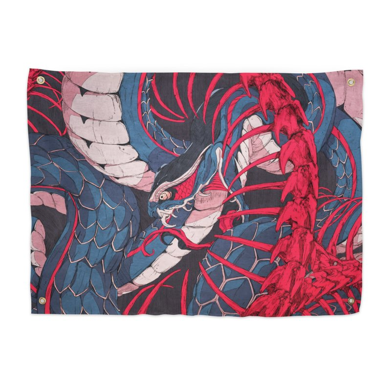 Ouroboros Home Tapestry by Chun Lo's Artist Shop