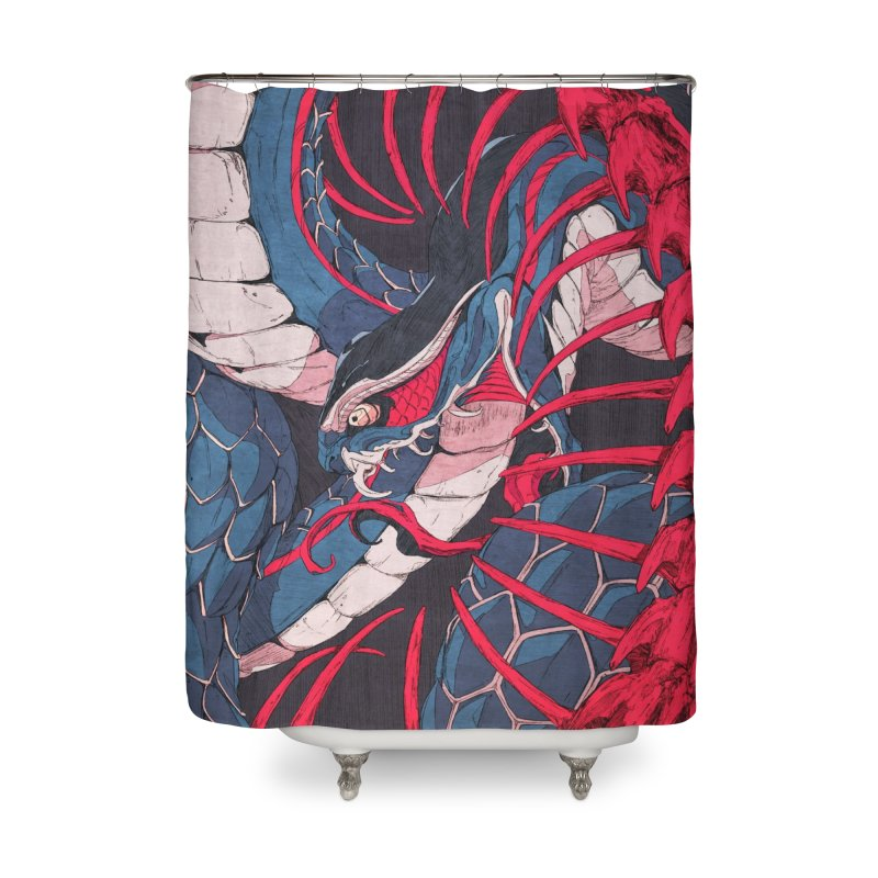 Ouroboros Home Shower Curtain by Chun Lo's Artist Shop