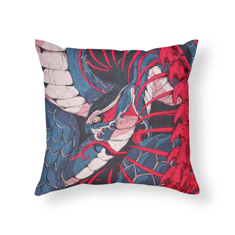 Ouroboros Home Throw Pillow by Chun Lo's Artist Shop