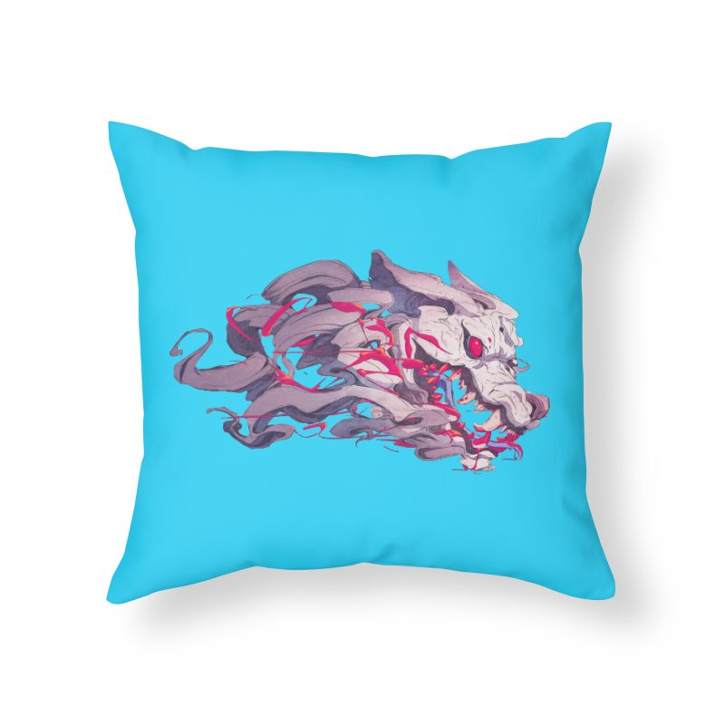 The Dog Home Throw Pillow by Chun Lo's Artist Shop