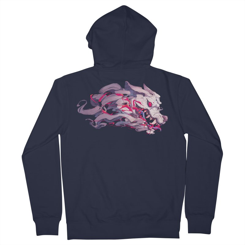 The Dog Women's French Terry Zip-Up Hoody by Chun Lo's Artist Shop