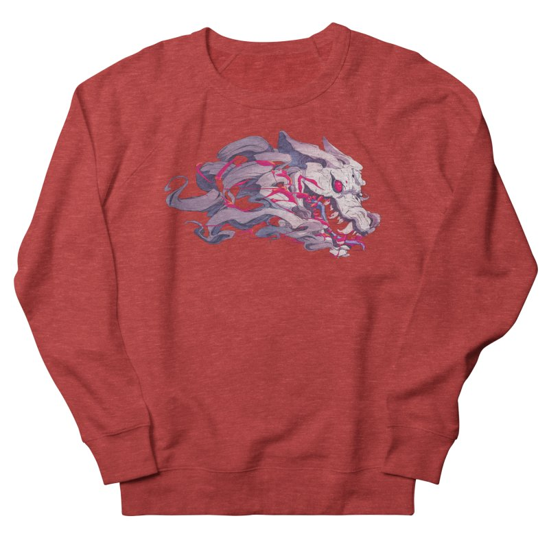 The Dog Men's French Terry Sweatshirt by Chun Lo's Artist Shop