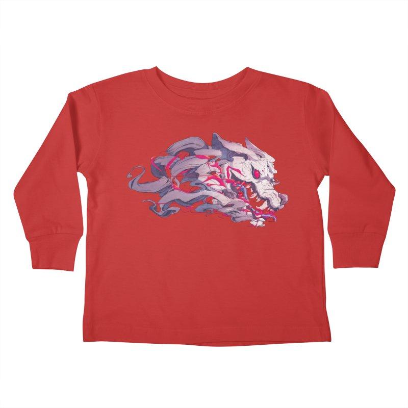 The Dog Kids Toddler Longsleeve T-Shirt by Chun Lo's Artist Shop