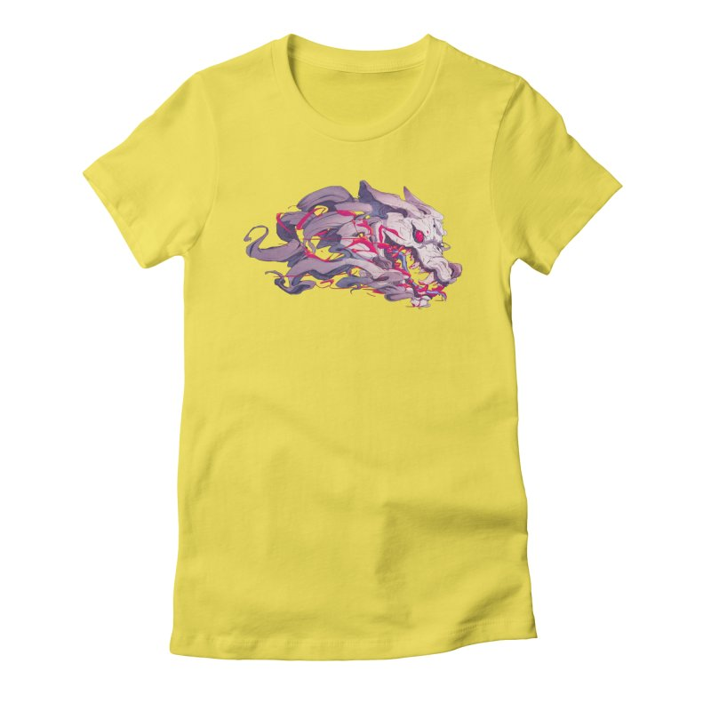 The Dog Women's Fitted T-Shirt by Chun Lo's Artist Shop