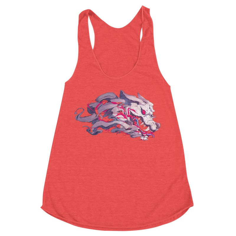The Dog Women's Racerback Triblend Tank by Chun Lo's Artist Shop