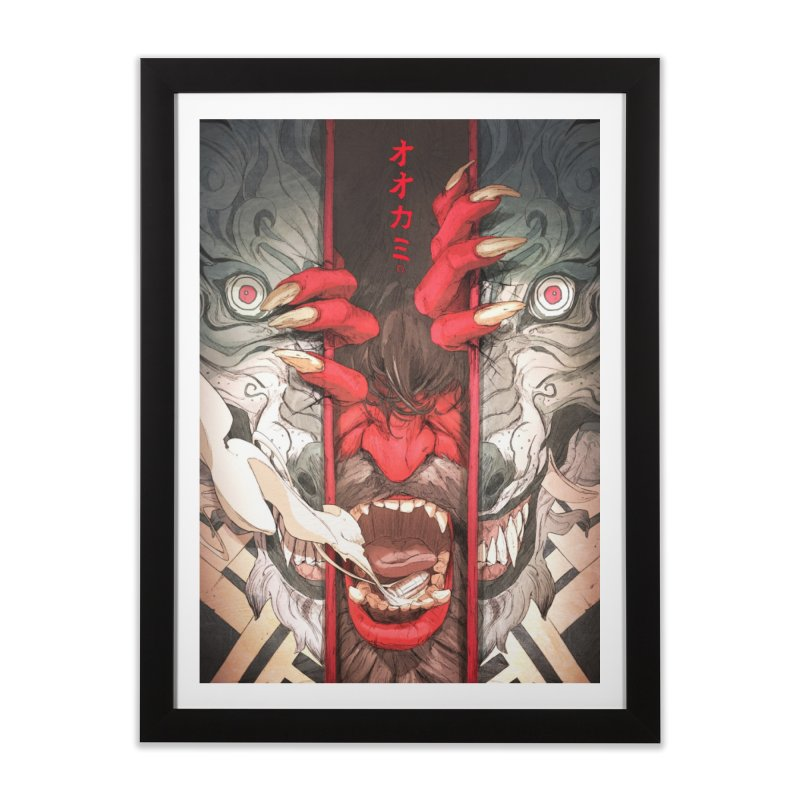 The Wolf Home Framed Fine Art Print by Chun Lo's Artist Shop