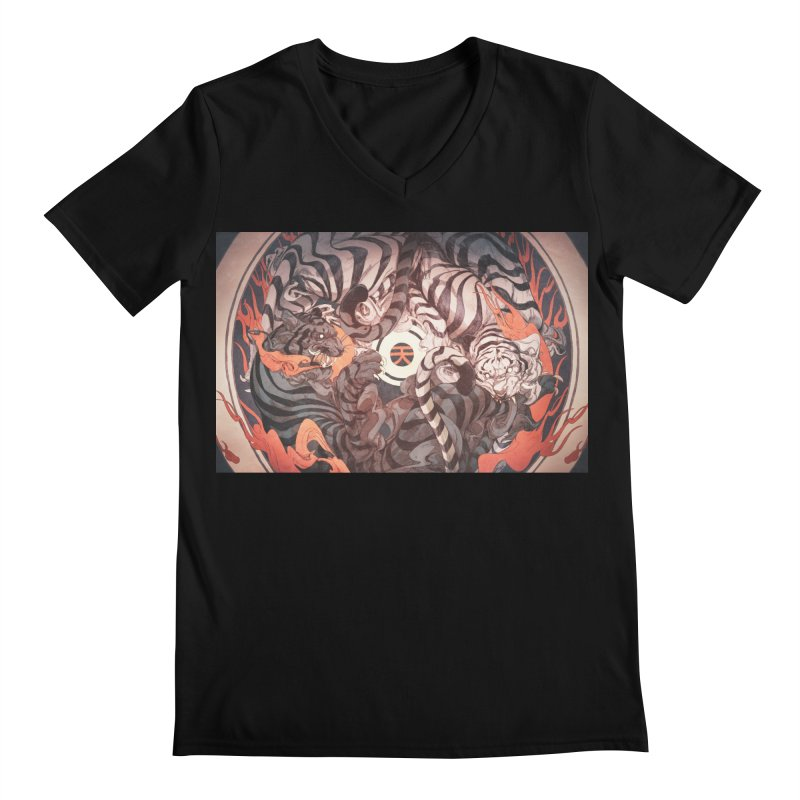 Strife Men's Regular V-Neck by Chun Lo's Artist Shop