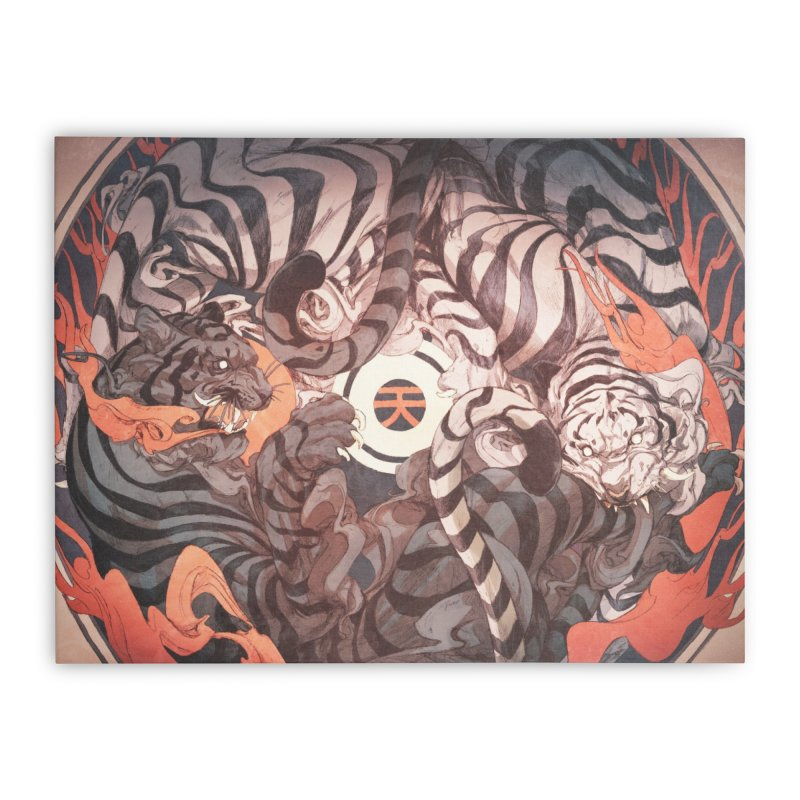 Strife Home Stretched Canvas by Chun Lo's Artist Shop