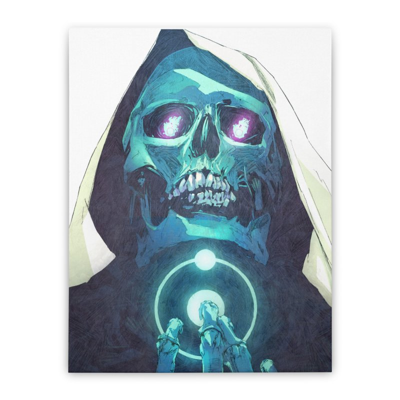 Death Home Stretched Canvas by Chun Lo's Artist Shop