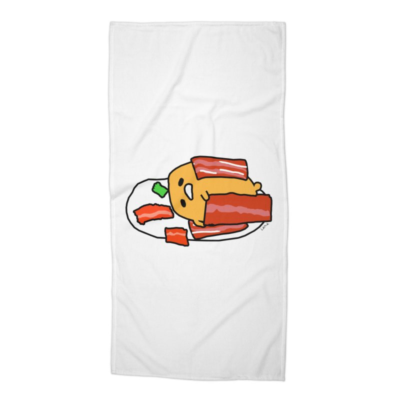 Lana's Lazy Egg Accessories Beach Towel by churro's Artist Shop