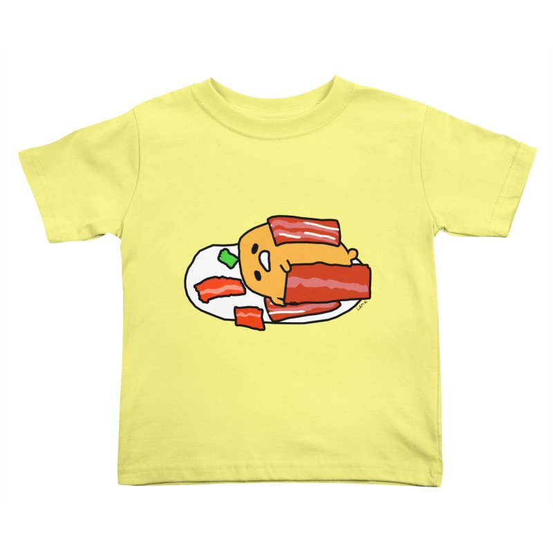 Lana's Lazy Egg Kids Toddler T-Shirt by churro's Artist Shop