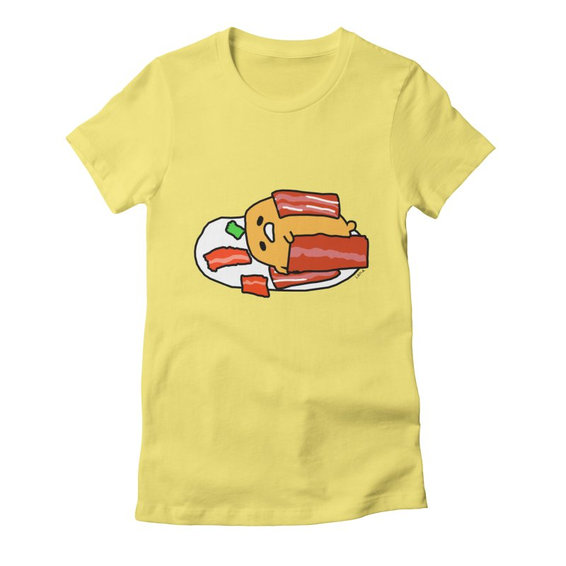 Lana's Lazy Egg Women's Fitted T-Shirt by churro's Artist Shop