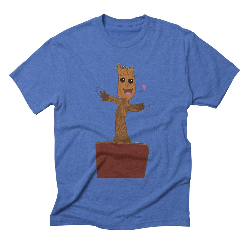 Potted Groot Men's Triblend T-Shirt by churro's Artist Shop