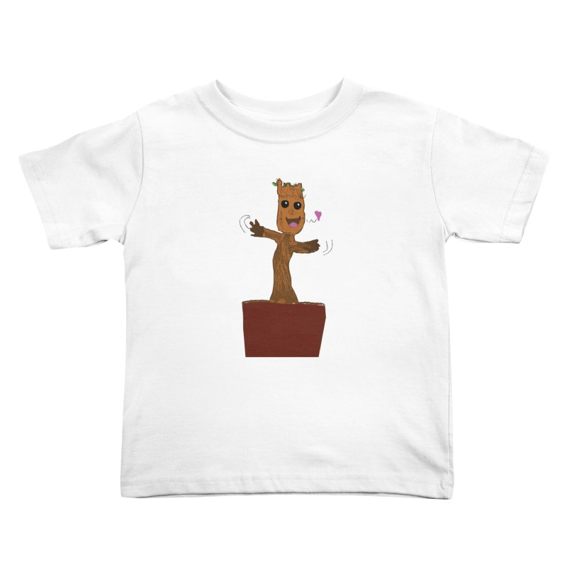 Potted Groot Kids Toddler T-Shirt by churro's Artist Shop