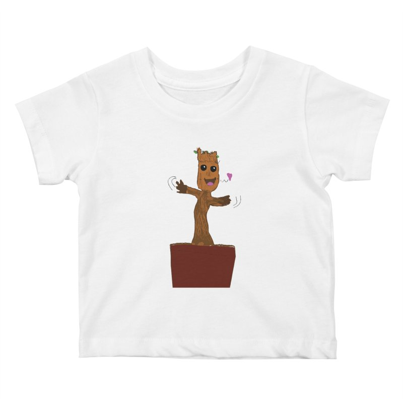 Potted Groot Kids Baby T-Shirt by churro's Artist Shop