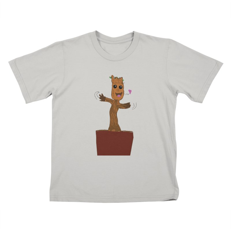 Potted Groot Kids T-Shirt by churro's Artist Shop
