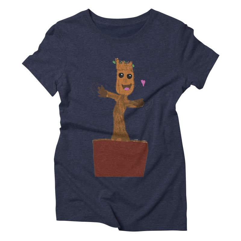 Potted Groot Women's Triblend T-Shirt by churro's Artist Shop